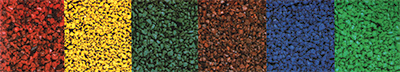 different types of coloured aggregate